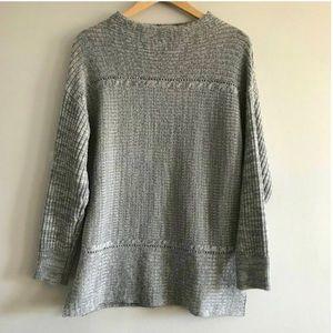 Anthropologie WestPort 1962 Gray Sweater